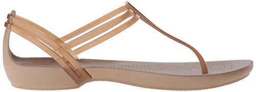 Bout Ouvert Femme Or Isabella T Crocs Sandales Bronze Strap XYwqI