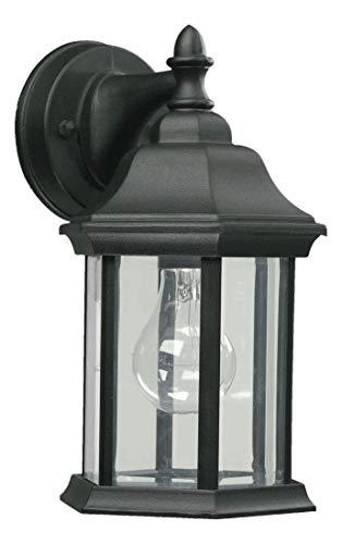 One Light Black Wall Lantern ()