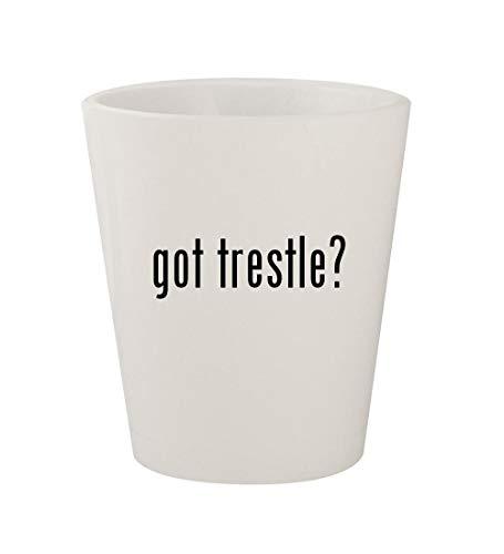 got trestle? - Ceramic White 1.5oz Shot Glass