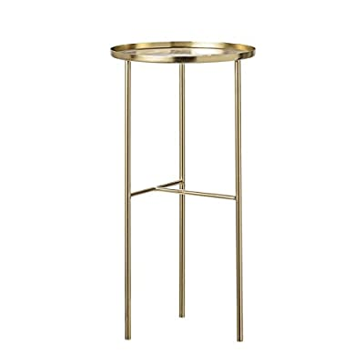 "Tall Gold Metal End Table - Metal Gold End Table 12"" Round 24"" Height - living-room-furniture, living-room, end-tables - 31yJzEsIlWL. SS400  -"
