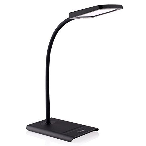 TROND Halo 10W Dimmable LED Desk Lamp (Premium Diffusion Film, 3 Lighting Modes, 7-Level Dimmer, Touch-Controlled, Memory Function, Flexible Gooseneck, Glare-Free)
