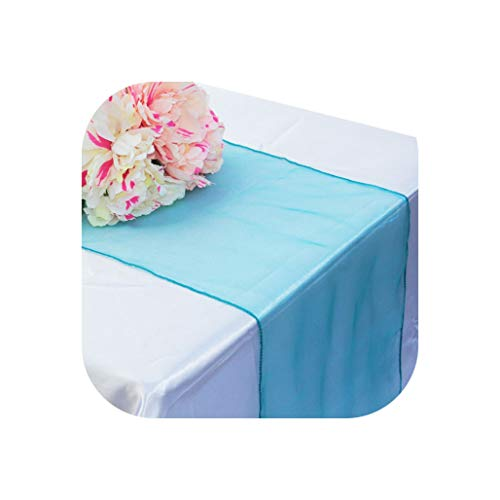 30x275cm Soft Sheer Fabric Organza Table Runner for