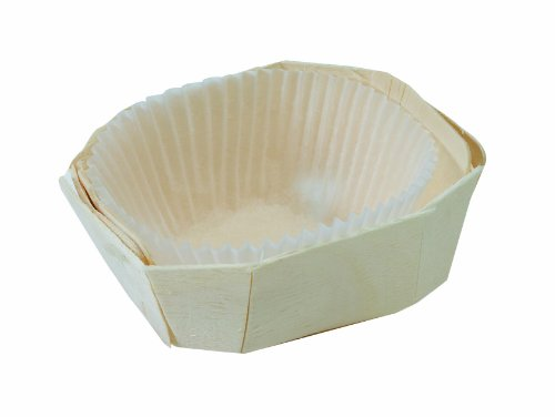 PacknWood Wooden Baking Mold, Baking Liner Included, 2 oz. Capacity (Case of 500) by PacknWood