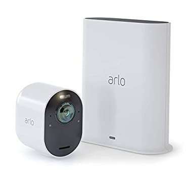 Arlo VMS5140 Ultra 4K UHD Wire-Free Security 1 Camera System | Indoor/Outdoor Security Cameras with Color Night Vision, 180 Degree View, 2-Way Audio, Spotlight, Siren | Works with Alexa |