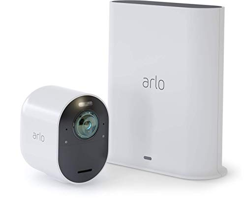 Arlo Ultra Home Security Camera System | 4K UHD Wire-Free with HDR, Color Night Vision, 180° View, 2-Way Audio, Spotlight, Siren | Works with Alexa and HomeKit | 1 Camera Kit (VMS5140)