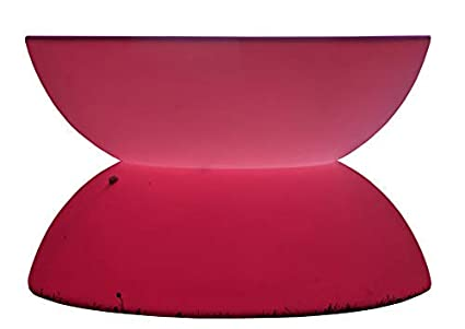 Admirable Light Up Led Colour Changing Mood Light Curved Coffee Table Frankydiablos Diy Chair Ideas Frankydiabloscom