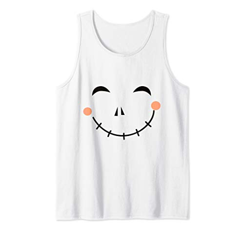 Last Minute Happy Scarecrow Halloween Costume Tank Top -