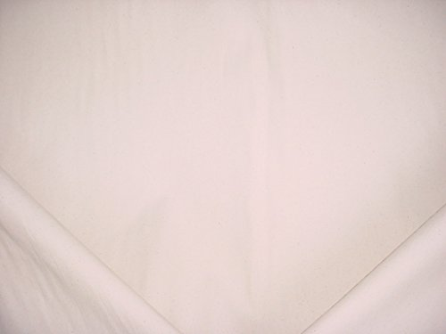 133RT1 - Cream White Flecked Sailcloth Duck Cotton Canvas Designer Upholstery Drapery Fabric - By the Yard