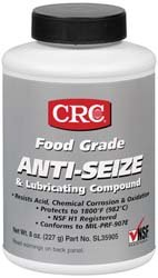 Sta-Lube SL35905 Food Grade Opaque Off-White Semi-Solid Anti-Seize & Lubricating Compound, 8 oz. Weight by Sta-Lube