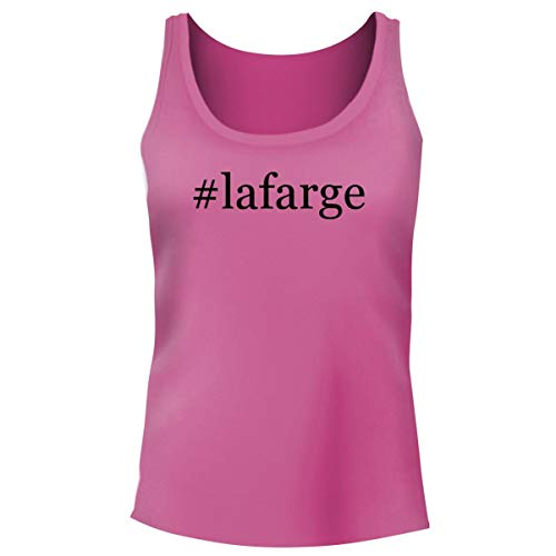d #Lafarge - Women's Hashtag Funny Soft Tank Top, Pink, Small ()