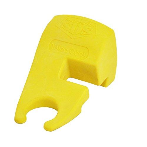 Tolco 280173 Super Door Stop, 4'' Height, 2.25  Width, Yellow (Pack of 6)