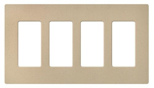 Lutron SC-4-DS Satin Colors 4-Gang Wallplate, Desert Stone