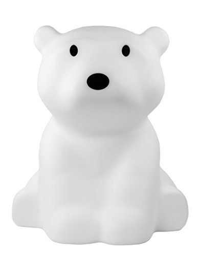 White LED Soft Glow Nanuk Polar Bear Lamp with Dimmer, 16 Inches Tall