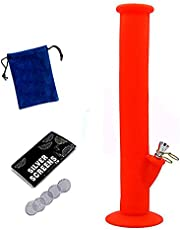 Portable Silicone Straw (red)