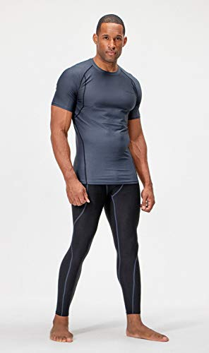 DEVOPS 2~3 Pack Men's Athletic Short Sleeve Compression Shirts
