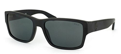 Polo Ralph Lauren 0PH4061 50018757 Square Sunglasses,Matte Black,57 mm (Lauren Polo Ralph Sunglasses)