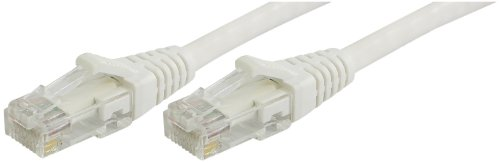 Lynn Electronics OLG20CWHW-014 Optilink CAT6 14-Feet Patch Cord, White, 2-Pack ()