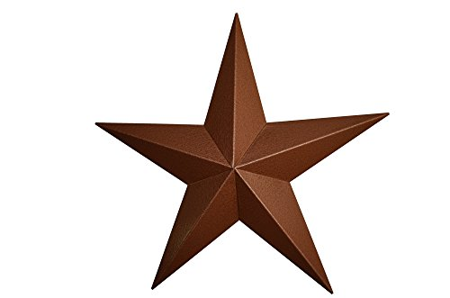 - AMISH WARES 53 Inch Heavy Duty Metal Barn Star Painted Hammered Copper.