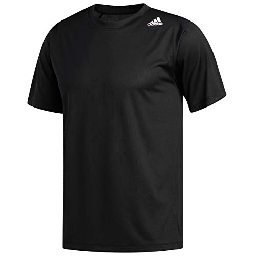 adidas Men's FreeLift Fitted 3-Stripes Training Tee, Black, Medium