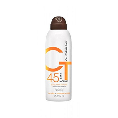California Tan SPF 45 Face Sunscreen Mousse 5 Ounce ()
