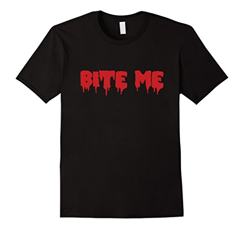 Mens Bite Me Halloween Blood Red Vampire Tshirt Scary Party Gift XL (Halloween Blood T Shirt)