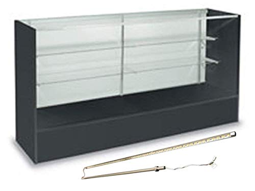 Reception Unit Modular (Showcase Full Vision Glass Shelves Black 70