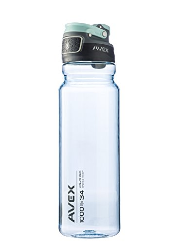 AVEX FreeFlow Autoseal Water Bottle, Ice, 1000ml/34 oz