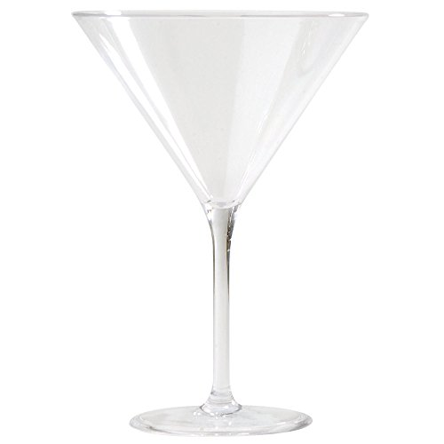 Carlisle 564607 Alibi 9 oz. Polycarbonate Martini - 24/Case by Carlisle