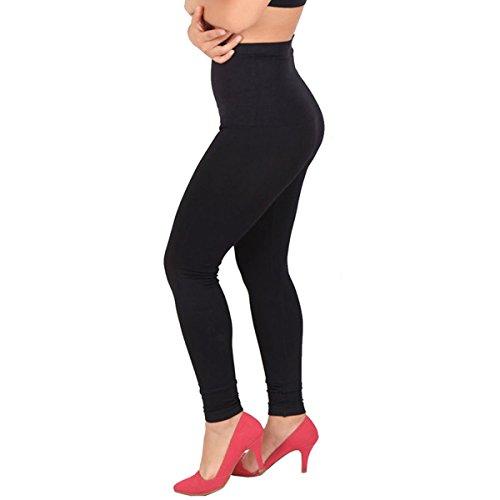 Surblue Seamless High Waist Tummy Control Slimming Stretch Leggings Plus Size,Black,XX-Large