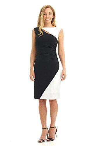 Rekucci Womens Slim Dress with Side Ruching, Asymmetric Details