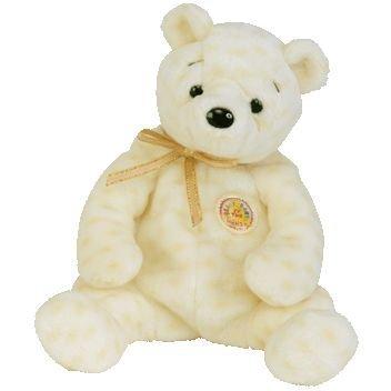 Ty Beanie Babies Popcorn the Bear (Retired Beanie Baby of the Month: October - 2003) - Retired Beanie Babies