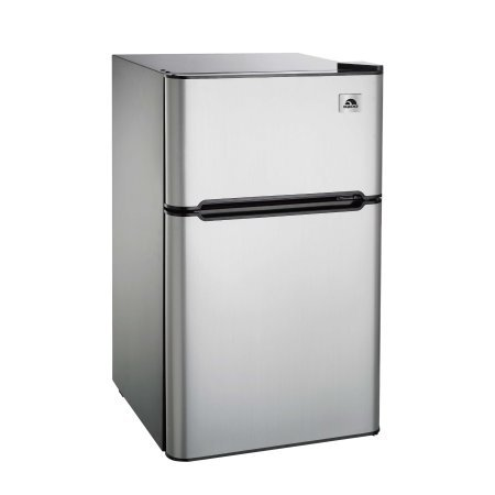 Igloo FR834 3.2 cu. ft. 2-Door Reversible Refrigerator and Freezer, Stainless Steel, Silver by Supernon