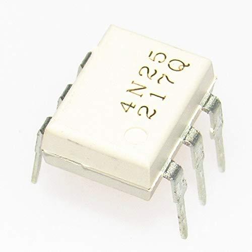 Cailiaoxindong 10pcs//lot 4N25 EL4N25 DIP6 Transistor Output optocouplers PTR 20/% 2.5KV New Original in Stock