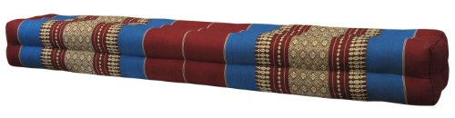 Thai cushion bolster , pillow, sofa, imported from Thaïland, red/blue, relaxation, beach, pool, meditation garden (81211) by Wilai GmbH