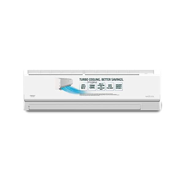Whirlpool 1.5 Ton 3 Star Split AC (Copper, 1.5T MAGICOOL ELITE PRO 3S COPR, White) 2021 July Split AC; 1.5 ton capacity Energy Rating: 3 Star, 24 Hour on / off timer: Yes Warranty: 1 year on product, 1 year on condenser, 5 years on compressor