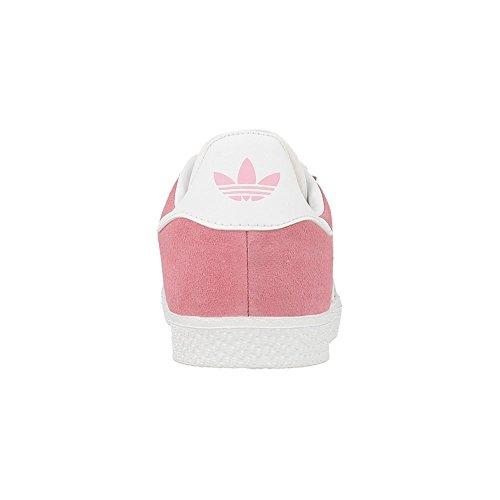 adidas Unisex: Kinder Gazellen J Sneakers Pink (Rossen/ftwbla/ftwbla)