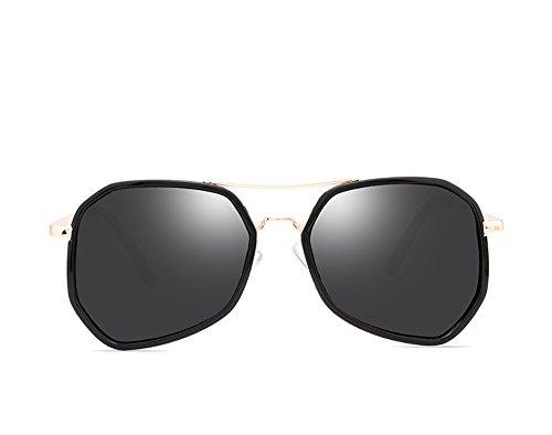 Pink BSNOWF Gafas De Marco Anteojos Metal Gris Dulce sol Redondas Gafas Color de UPwCPSq1