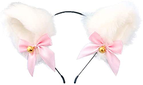 Cosplay sweet girl bow fluffy cat ears headdress accessories props show sweet girl