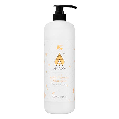 AMAXY Royal Essence Honey Infused Shampoo-Natural, Anti- Aging Ingredients Moisturizes, Repairs and Softens Dry Hair, Anti Frizz, Detangles, All Hair Types, Men and Women - Premium Quality (1000 ML)