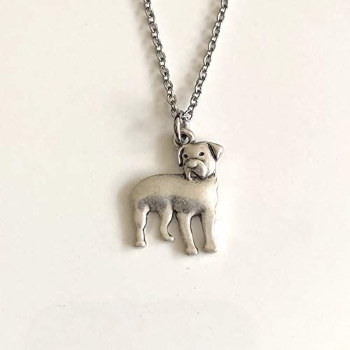 Rottweiler Dog Necklace - Rottie Dog Breed Pendant on Stainless Steel Chain - Dog Mom Gift