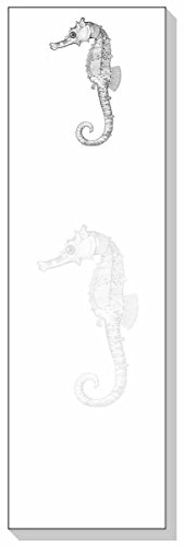 Ars Antigua Slim Writing Blocs (Notepads) Seahorse Engraving 1875 Two Blocs of 50 Sheets Each - Total of 100 Printed ()