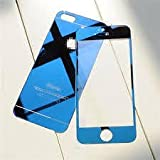 ssimpex® Blue Electroplant Tempered Glass Front/Back Screen Protector For Iphone 5 / 5S