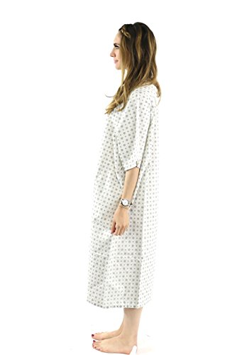Hospital Gown (4 Pack) Cotton Blend Useful Fashionable Patient Gowns Back Tie 46'' L& 66'' W Fits All Sizes to 2XL Sizes Fit Comfortably - Hospital Gown by Magnus Care (Image #4)