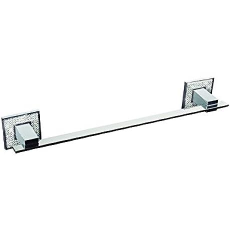 Zen Designs Diamond Swarovski Crystal Towel Bar 16 1 4 W X 2 1 2 H Polished Chrome