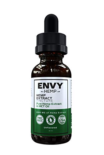 Envy Hemp 1500mg Pure Hemp Oil (Isolate) | Can Help Relieve Stress, Anxiety | Zero THC CBD Cannabidiol| Unflavored, 1…