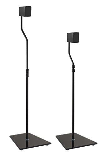 AVF EAK85B-A Speaker Floor Stands, Black Glass Base , Black