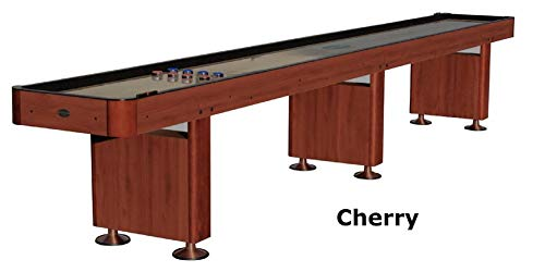 Plank Cherry Table (Berner Billiards The Standard 14 Foot Shuffleboard Table in Cherry)
