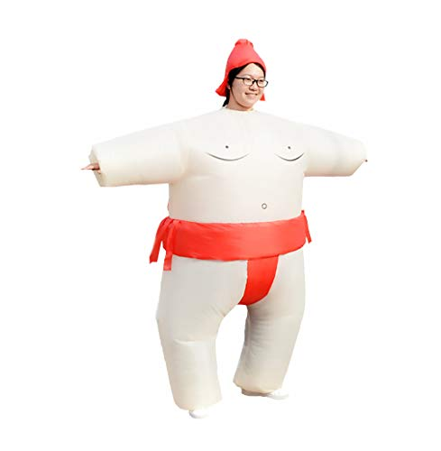 Special Costume for Performance of Funny Sumo Inflatable Suit Wrestler Wrestling Suits Blow Up Suit for Adult Red -