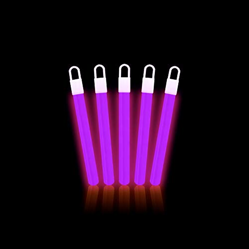 Lumistick 4 Inch Glow Sticks with Detachable Connectors & Strings | Kid Safe Non-Toxic Party Packs Available in Bulk & Color Varieties | Keeps Glowing up to 12 Hours (Purple, 25 Glow Sticks) -