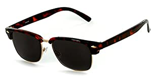 "Aloha Eyewear Unisex ""The Club"" Clubmaster Full-Lens Non-Bifocal Reading Sunglasses"